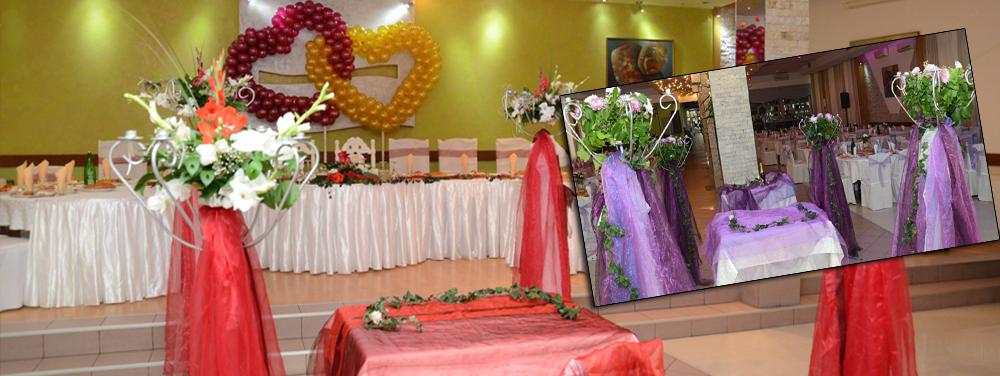Sala za venčanja u više dekoracija. Odaberite vašu dekoraciju iz snova